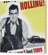 Keep America Rolling Wood Print