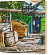 Keep Off Wet Tar It Don't Come Off Key West Florida Wood Print