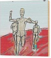 Keep On Running, Athletes Wood Print