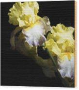 Keep Smiling Iris  Wood Print