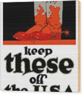Keep These Off The Usa - Ww1 Wood Print