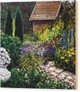 Keeper Of The Garden Wood Print