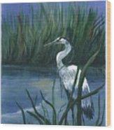 Keeper Of The Pond II Wood Print
