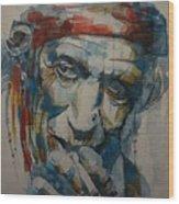 Keith Richards Art Wood Print