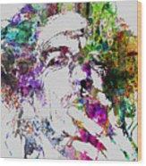 Keith Richards Wood Print by Naxart Studio