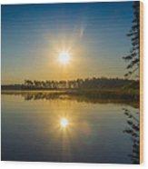 Kejimkujik Dawn Wood Print