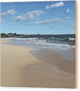 Kekaha Beach Wood Print