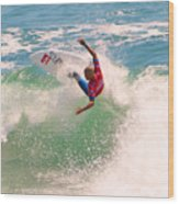 Kelly Slater  Us Open Of Surfing 2012     7 Wood Print