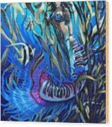 Kelp Mermaid Wood Print