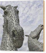 Kelpies Wood Print