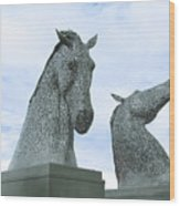 Kelpies Wood Print