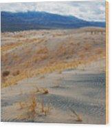 Kelso Dunes Winter Wood Print