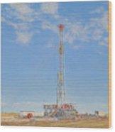 Kenai Mid-continent Rig 55 Wood Print