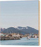 Seward Alaska Kenia Fjord Port Wood Print