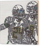 Kenjon Barner And Marcus Mariota Wood Print by Jeremiah Colley