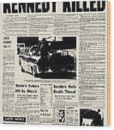 Kennedy Assassination, 1963 Wood Print