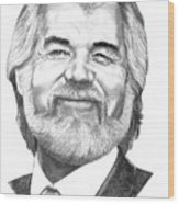 Kenny Rogers Wood Print