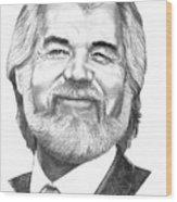 Kenny Rogers Wood Print
