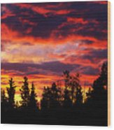 Kenosha Pass Sunrise Wood Print
