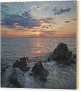 Kent Island Mother's Day Sunset Wood Print