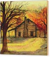 Kentucky Cabin Wood Print