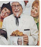 Kentucky Fried Chicken Ad Wood Print
