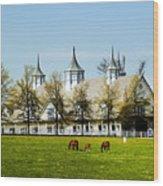 Revised Kentucky Horse Barn Hotel 2 Wood Print