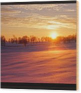 Kentucky Winter Sunrise Wood Print