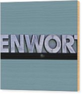 Kenworth Semi Truck Logo Wood Print