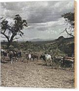 Kenya: Cattle, 1936 Wood Print