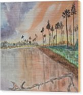 Kenya Sunset Wood Print