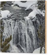 Firehole Falls Yellowstone Wood Print