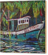 Kerala Fishing Boat  Wood Print