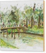 Kerekbrugje Wood Print