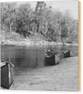 Kerr Lake Canoes Wood Print