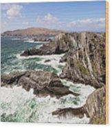 Kerry Cliffs Wood Print