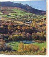 Kerry Ireland Autumn Landscape Wood Print