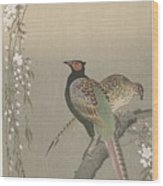 kersenbloesem Ohara Koson Wood Print