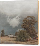 Kerula Storm  Wood Print by Vicki Ferrari