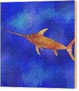 Kessonius V1 - Amazing Swordfish Wood Print