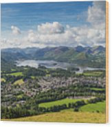Keswick And Derwent Water View From Latrigg Wood Print