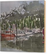 Ketchican Marina Wood Print