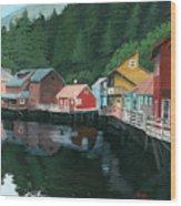 Ketchikan Wood Print