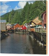 Ketchikan Creek Wood Print