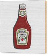 Ketchup Wood Print