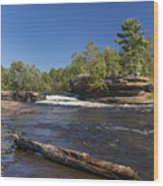Kettle River Big Spring Falls 7 Wood Print