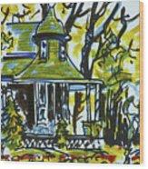 Kew Gardens Gardener's Cottage Wood Print