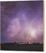 Kewl Nebraska Cg Lightning And Krawlers 017 Wood Print