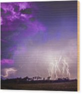 Kewl Nebraska Cg Lightning And Krawlers 038 Wood Print