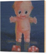 Kewpie On A Roll Wood Print